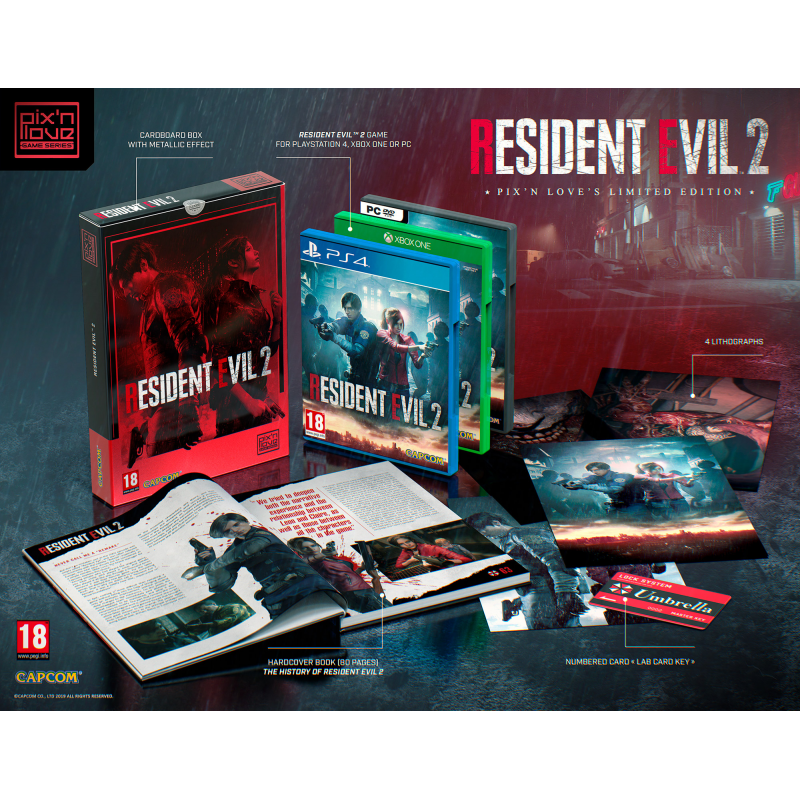 Resident Evil 2 Limited Edition Ps4 Pix N Love Publishing